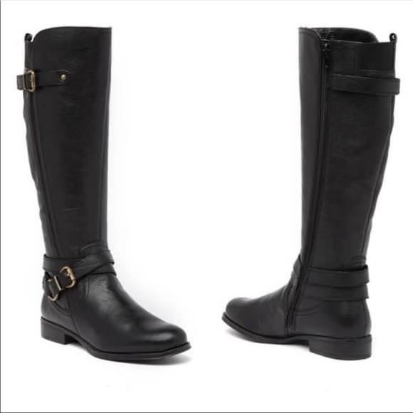 Naturalizer June Black Boots Knee High Sz 7.5
